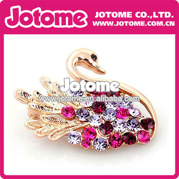 Swan Rhinestone Brooch for Women Dress