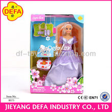Defa Lucy Alibaba Supplier SGS ISO High Quality Toy Beautiful Makeup American Girl Doll with pet dog Makeup American Girl Doll