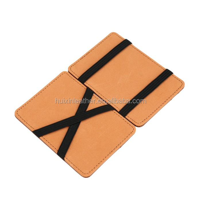 Lowest price ! Men wallets leather funny magic wallet with elastic band magic wallet