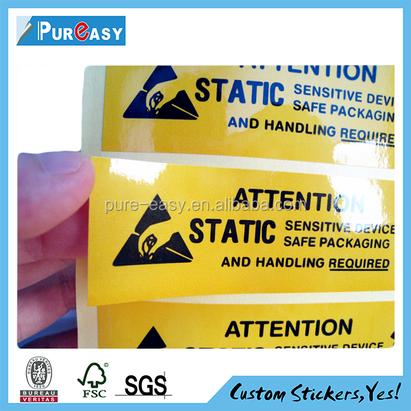 industry products indicate stiker