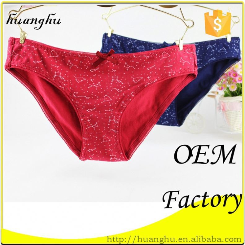 Hot selling breathable good quality fast delivery stain sexy panties