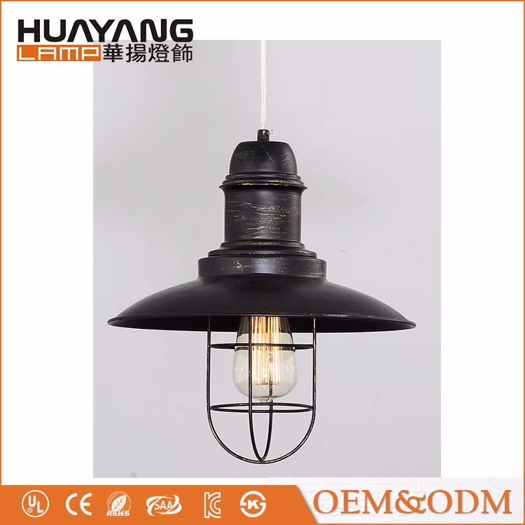 American style decorative loft dining light industrial vintage iron pendant lamp