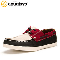 Aquatwo Brand Genuine Leather Men Fashion Boat Shoes With Cheap Price