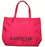 Fashion design folding nylon shopper bags with handle , light and more color, OEM orders are welcome