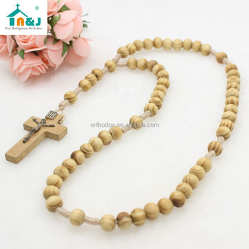 Wooden Bead Rosary jewelry fashion necklaces