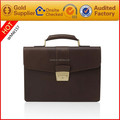 High Quality Fancy Cowhide Leather Handbag Genuine Leather Briefcase for Man