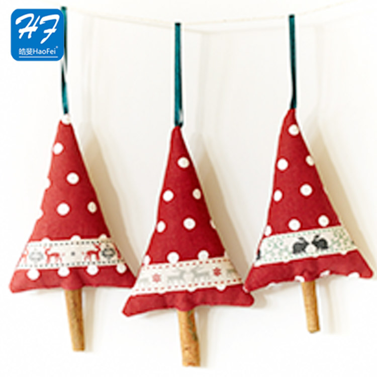 Factory Made Cheap Custom 100% Polyester Felt Christmas Tree Ornaments Decoration