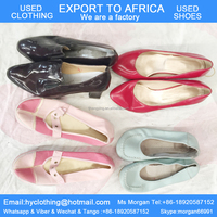 Factory wholesale cheap and good quality second hand shoes for Africa ladies mixed brands big stock