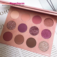 2019 New 12 Color pigment Matte Eyeshadow Palette maquillaje private label cosmetics vegan makeup eyeshadow palette custom