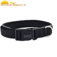 neoprene reflective nylon dog collar