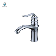 KT-01 best selling saving water bathroom decoration ceramic cartridge chrome plated antique basin sink toilet mixer faucet