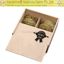 factory sale FSC custom pine wooden cookie jewelry storage gift chest box for holiday