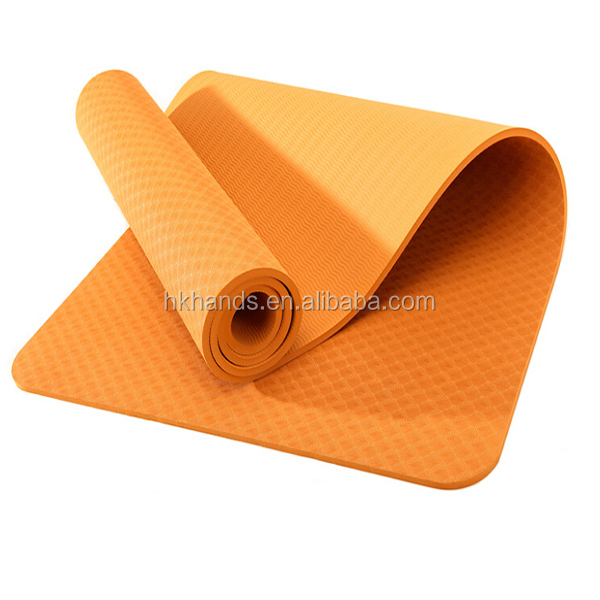 Eco friendly special non-slip TPE single color 6mm yoga mat