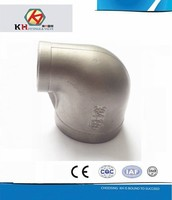 ANSI 304 or 316 Stainless Steel Casting Pipe Fittings Female Threaded BSP Reducing Elbow