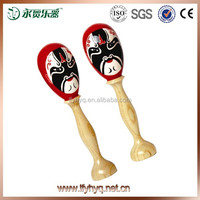 Traditional chinese Beijing opera face wooden maracas