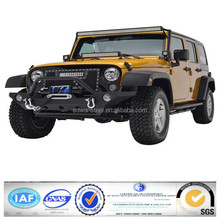 American Jeep JK Wrangler 2007-2014 standard black painting steel front bumper with tire carrier