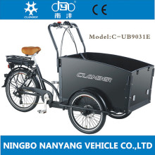 good price Alloy wheel 24 inch 3 wheels 6 speeds 250W electric motor balance bike with disc brake for delivery cargo bike