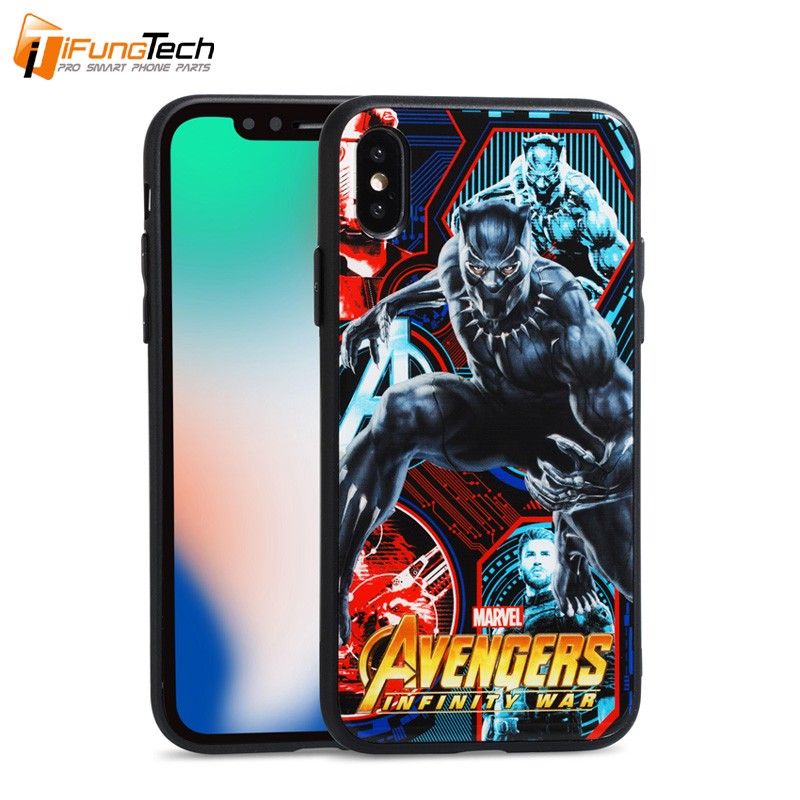 (Hot) Cell phone cover the avengers Phone case for iphone 6 6s for iphone 6 6s plus Glass or TPU mobile phone case