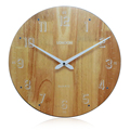 2016 new 35cm Round Simple Design Antique wooden clock