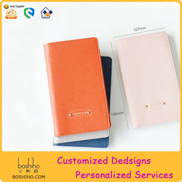 Boshiho credit card organizer with personalize cute passport cover