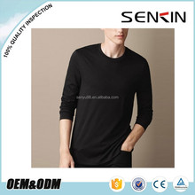 Design your own t shirt ,100% Cotton Breathable long sleeve blank men t shirt
