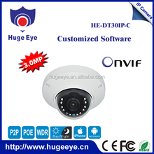 Hugeye Security 3 megapixels Vandalproof dome ip camera dahua like Dome security camera