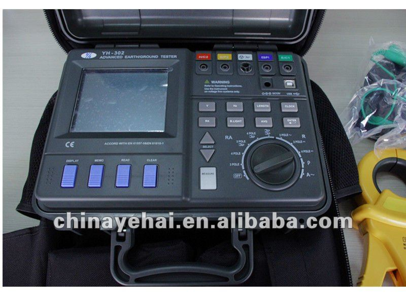 Double clamp without auxiliary electrode, Earth Resistance Tester YH302
