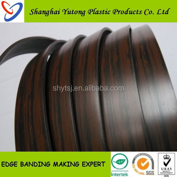very popular wengue color pvc edge banding for interior furniture
