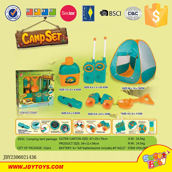 Camping Toys Product : Wholesale kids set camping tent toy kitchen