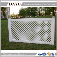 PVC Plastic Garden Lattice Fence