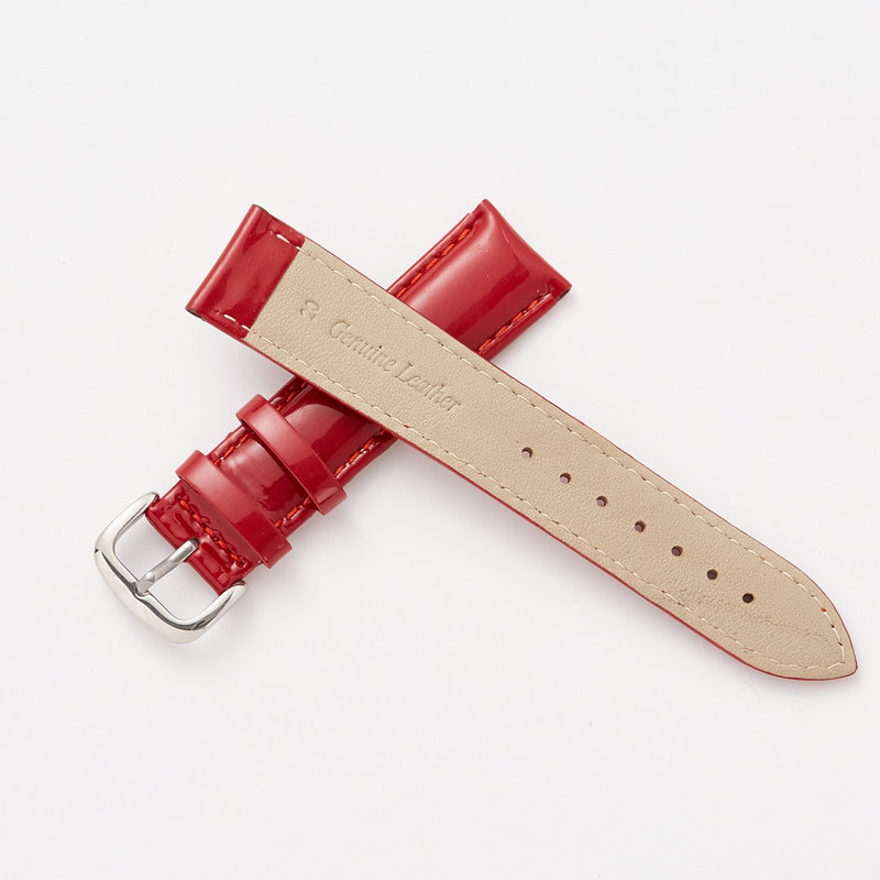 Wholesale smooth men & women watchband genuine leather watch strap belt bright skin pin buckle