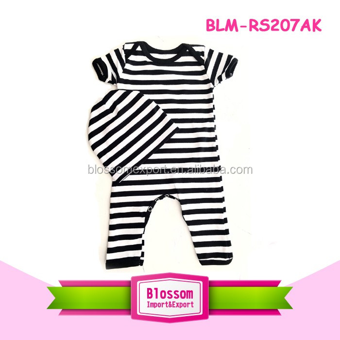 Newborn infant long sleeve baby romper+hat+shorts 4pcs baby romper set toddler romper suit