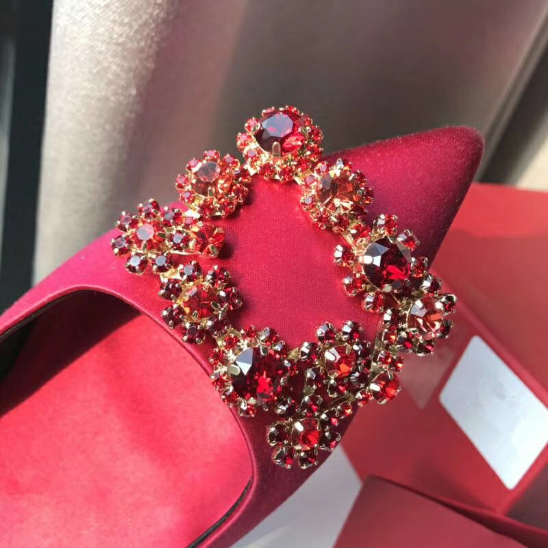 Classic fashion rhinestone crystal removable crystal shoes decoration and accessories clip on shoe accessories