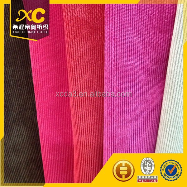 high quality velvet corduroy upholstery fabric and sample for free
