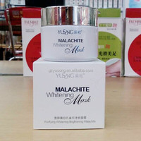 Hot Wholesale Newest Purifying Whitening Brightening Malachite Mud Facial Mask Of Factory With OEM And ODM