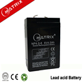 Emergency light small rechargeable sealed lead acid battery 6v 4ah 20hr