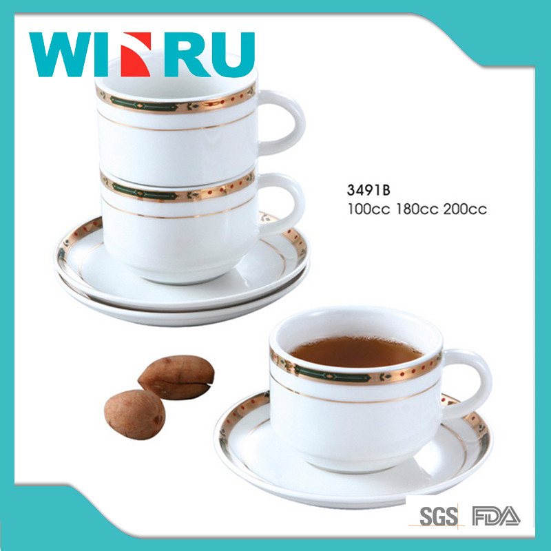 100cc-200cc personalized tea cup saucer set / hot sale factory coffee tea ceramic cups saucers set