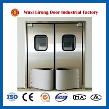 Stainless steel industrial swing door commercial kitchen swing doors