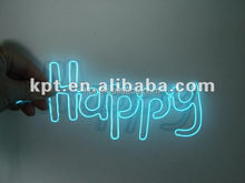 AA battery inverter blue light el letters, high brightness el wire