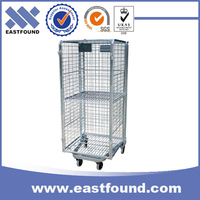 Load goods steel wire nesting mesh foldable used roll off containers