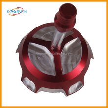 Red fuel tank cap for dirt bike spare parts motorcycle cnc fuel tank cap
