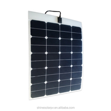 Hot sale high efficiency sunpower 60w marine semi flexible solar panel prices for carvan boat with factory