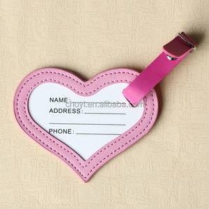 Wedding Favors Gifts Leather Heart Shape Soft PVC Luggage Tag