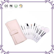 White 10pcs acrylic makeup brush professional girls brush sets makeup professional