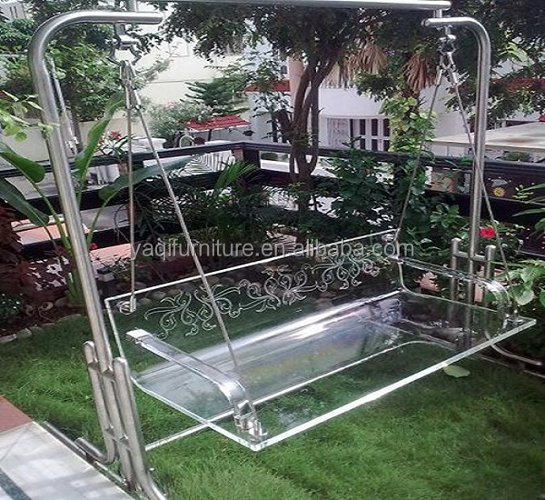 2018  latest design acrylic swing for outdoor