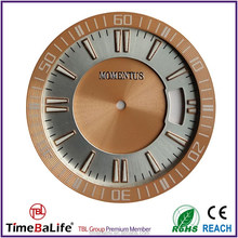 2016 Custom Luminous Index Rose Gold Ring Diamond CD Cutting 3 Layer High Quality Watch Dial Parts