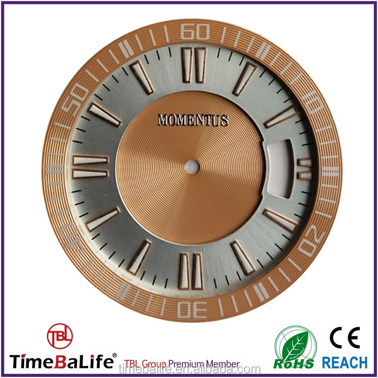 2017 Custom Luminous Index Rose Gold Ring Diamond CD Cutting 3 Layer High Quality Watch Dial Parts