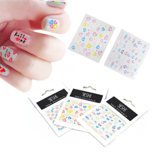 Nail Art 3D Decals Heart Figures Finger Nail Sticker