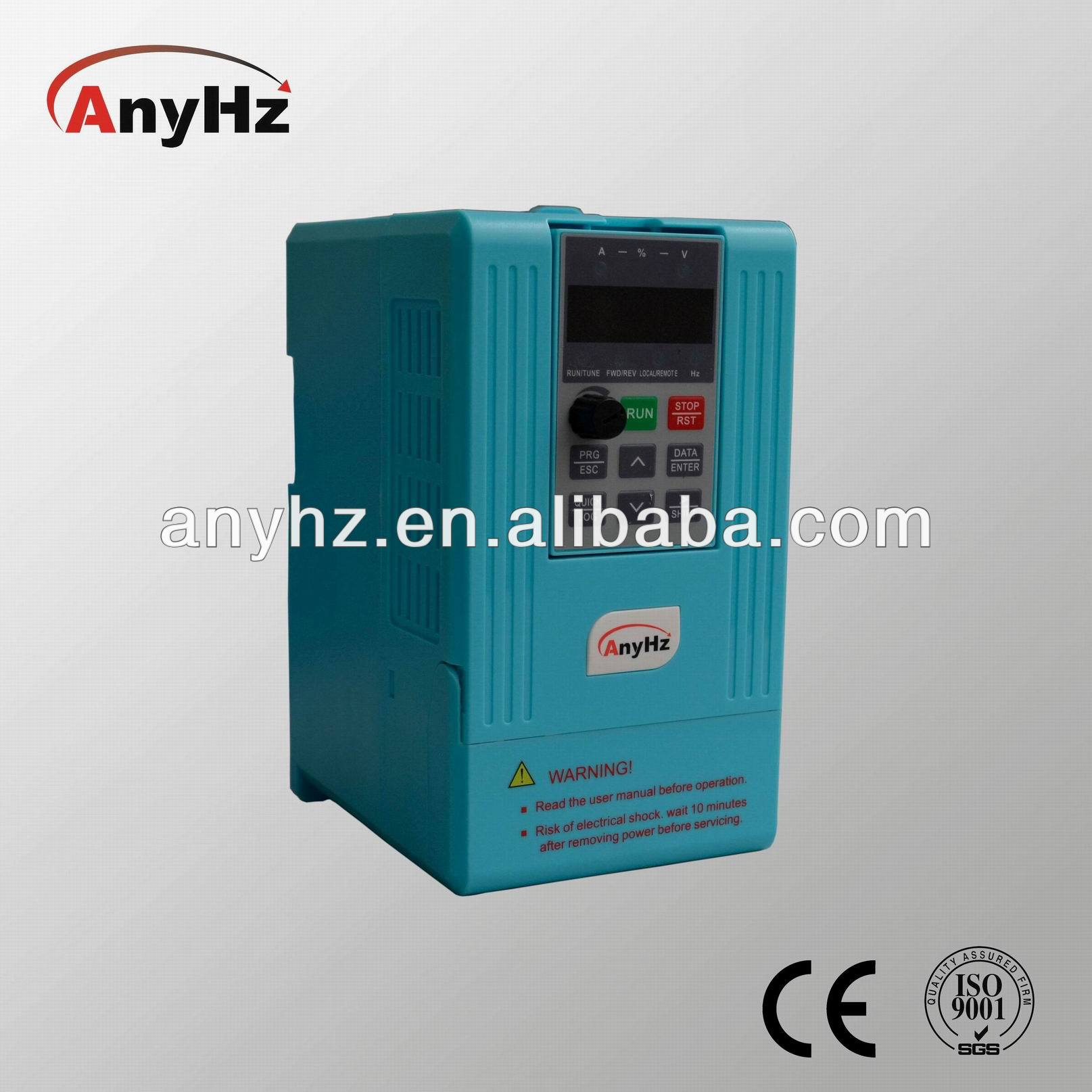 Modbus RTU frequency inverter 50hz to 60hz for single and three phase motors 1.5kw