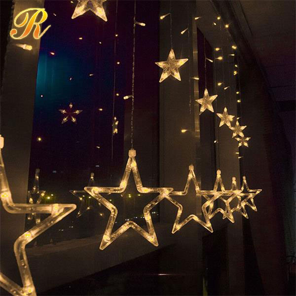 Newly Outdoor product led light with star decorations
